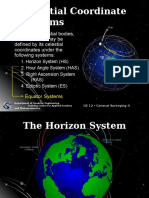 Celestial Coordinate Systems