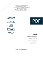 Mesozoico en Venezuela. Trabajo Final Docx