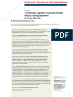 Effect of Group v Individual Cognitive Processing Therapy in Active-Duty Military seeking treatment for Posttraumatic Stress Disorder