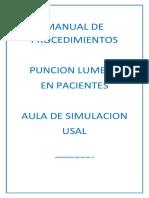Manual de Procedimientos Puncion Lumbar