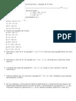 Revisão Sobre Equação Do 2º Grau