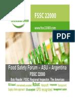 5 - FSSC 22000 Presentation Food Safety Forum Argentina 091814