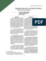 LA SORDERA HEREDITARIA DE LA FAMILIA MONGE ARTICULO DE REVISION