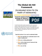 The Global AA-HA! Framework (Accelerated Action for the Health of Adolescents)