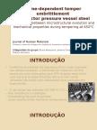 Time-Dependent Temper Embrittlement of Reactor Pressure Vessel Steel
