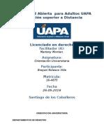 Tarea 2 Unidad II Orientacion Universitario (UAPA) 26-05-2016