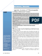 4. Diagnostic Accuracy of Ultrasonography
