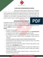 Guía Operadores Gedulah S.a.
