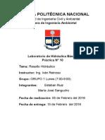 PRACTICA N°10 RESALTO HIDRAULICO