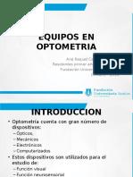 Equipos en Optometria