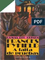 A Falta de Pruebas - Frances Fyfield