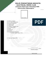 Form Pendaftaran EPC