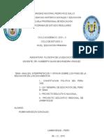 Ley General de Educación- Perú