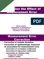 Correction Measurement Error