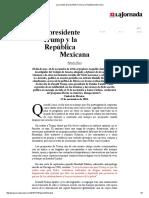 La Jornada_ El Presidente Trump y La República Mexicana
