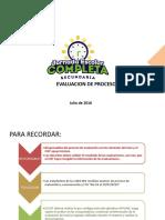 Consideraciones Importantes - Evaluación de Proceso