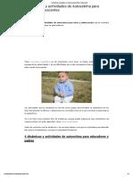 8 Dinámicas y Actividades de Autoestima Para Niños y Adolescentes