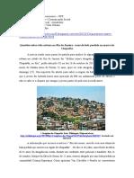 Questões Sobre Vida Urbana No Rio de Janeiro- Casos de Bala Perdida No Morro Do Chapadão