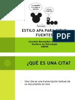 2.2 APA Citar Fuentes