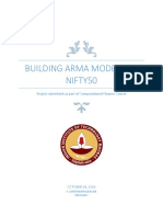 Building an ARMA Model for Nifty 50_MS15A047