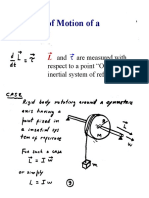Ph-213 Chapter-11 Equation of Motion for a Rigid Body