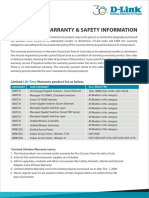 D Link India Warranty and Safety Information REV 1 1