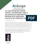 Crisis Actual de La Salud Mental