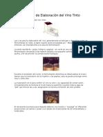 Proceso de Elaboración Del Vino Tinto