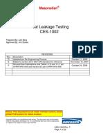 5.3 CES 1002 F Seat Leakage Testing