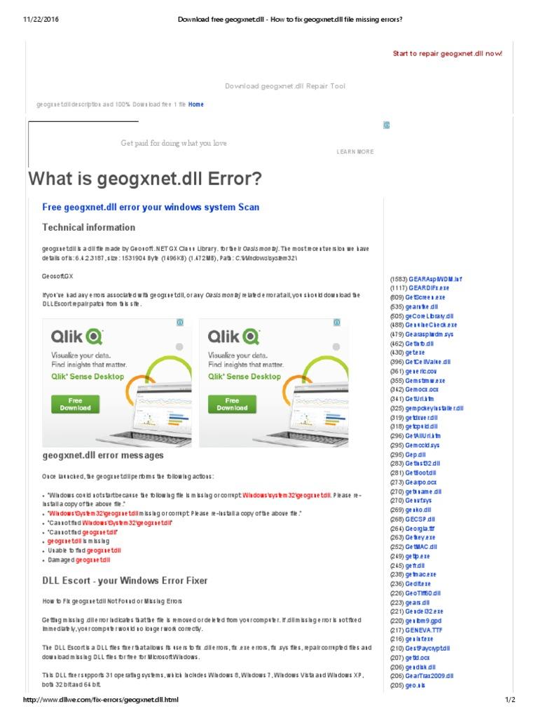 Download Free Geogxnet Dll How To Fix Geogxnet Microsoft Windows Computer Virus