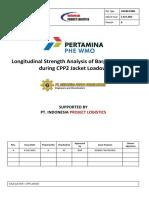 Longitudinal Strength Analysis of Barge Kreuz 282 During CPP2 Jacket