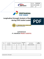 Longitudinal Strength Analysis of Barge Kreuz 282 During CPP2 Jacket