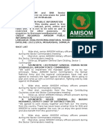 AMISOM and SNA Senior Commanders agree on new plans for joint operations against Al-Shabaab