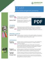 Genencor Textile Product List