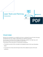 Introduction to Lean Tools and Techniques