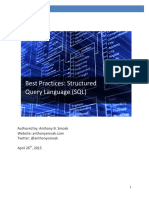 Best Practices for Structured Query Language (SQL)