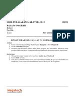 Bahasa Inggeris Set 1 Paper 1