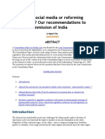 Regulating Social Media or Reforming Section 66A