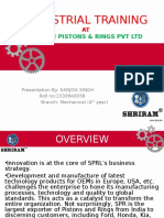 Industial Training Ppt on shri ram pistons