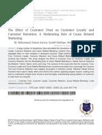 4 the Effect of Customer Trust on Customer