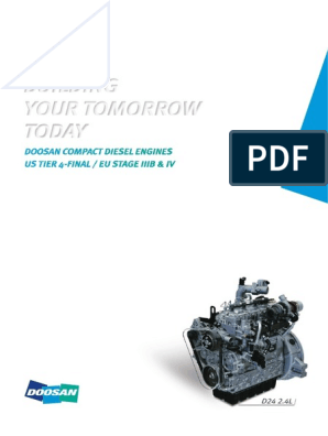 Doosan G2 Engine Brochure | Diesel Engine | Engines