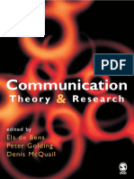 Communication Theory and Resear - McQuail, Denis(Editor)