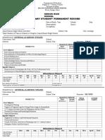 Deped Form 137 Shs -1-Gen. Academic Strand