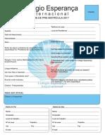 Pre Registration Form