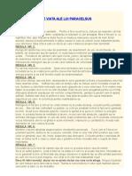 CELE 7 REGULI DE VIATA ALE LUI PARACELSUS.doc