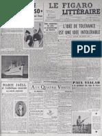 Récit du commandant Cousteau de la 1ère mission de la Calypso paru dans Le Figaro Littéraire en avril 1952