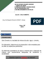 Fot 12177aula 04 - Estabilizacao Qumica - Solo - Cimento PDF Aula 04 - EstabilizaCAo Qumica - Solo - Cimento