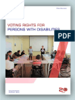 Voting Rights for persons with disabilities