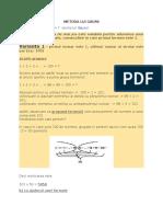 Metoda Lui Gauss