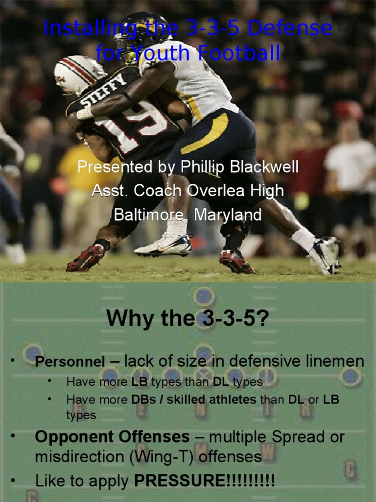 3 3 5 Defense For Youth Football National Football League